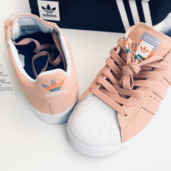 3f844b825bdf adidas Superstar Vulc ADV Pastel Pink Shoes